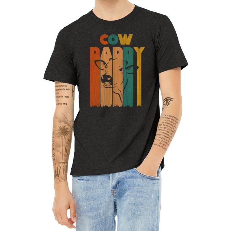 Cow Daddy Retro Vintage Heather T-shirt | Artistshot