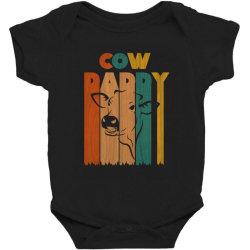 cow daddy retro vintage Baby Bodysuit   Artistshot