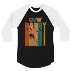 cow daddy retro vintage 3/4 Sleeve Shirt | Artistshot