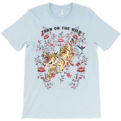 Floral Tiger T-shirt Designed By Aydigdem