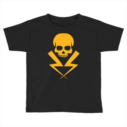 Electricity Skull Funny Toddler T-shirt Designed By Ramateeshirt