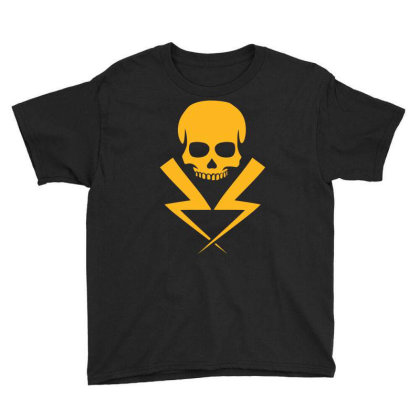 Electricity Skull Funny Youth Tee Designed By Ramateeshirt