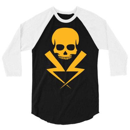 Electricity Skull Funny 3/4 Sleeve Shirt Designed By Ramateeshirt