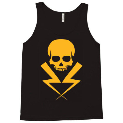 Electricity Skull Funny Tank Top Designed By Ramateeshirt