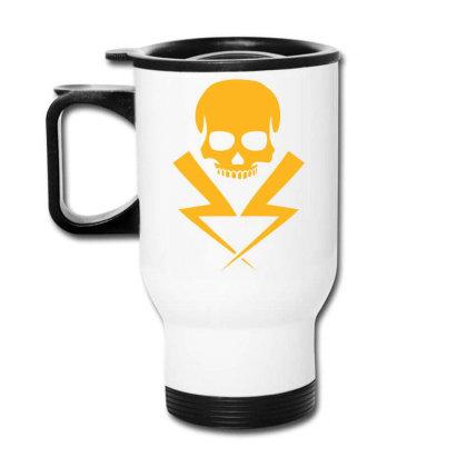 Electricity Skull Funny Travel Mug Designed By Ramateeshirt
