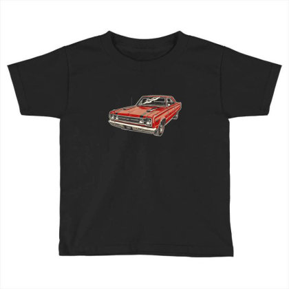 1967 Belvedere Gtx440 Muscle Car Toddler T-shirt Designed By R1m4