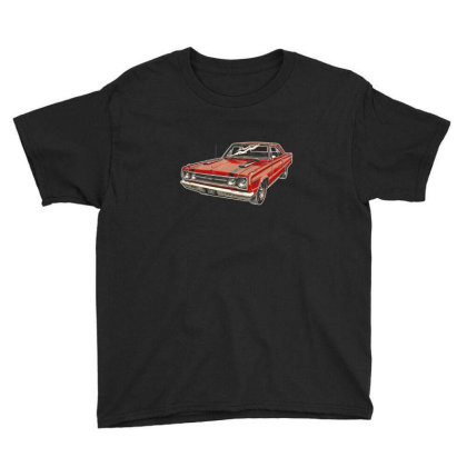 1967 Belvedere Gtx440 Muscle Car Youth Tee Designed By R1m4