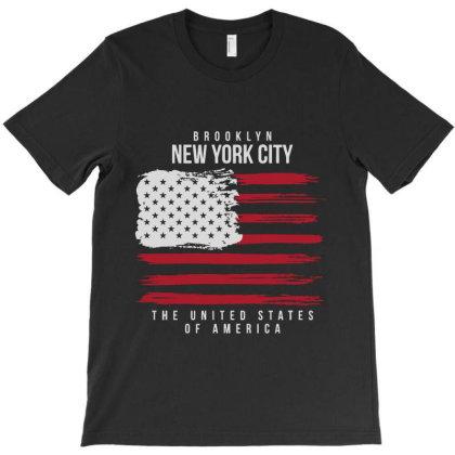 Usa Flag America T-shirt Designed By Designisfun