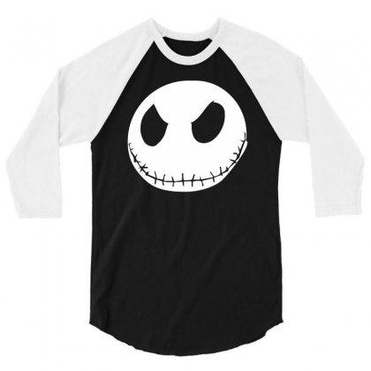 Jack Skellington The Nightmare 3/4 Sleeve Shirt Designed By Mdk Art
