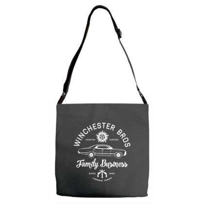 Family Business   Winchester Bros   Occult Horror Adjustable Strap Totes Designed By G3ry