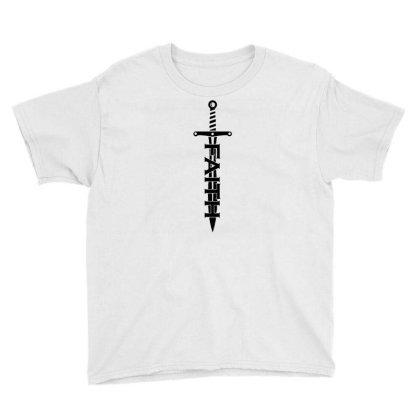 Faith Sword Youth Tee Designed By G3ry