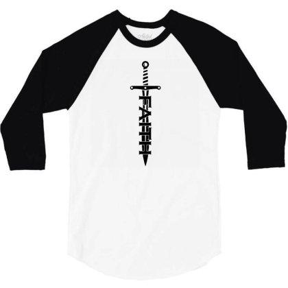 Faith Sword 3/4 Sleeve Shirt Designed By G3ry