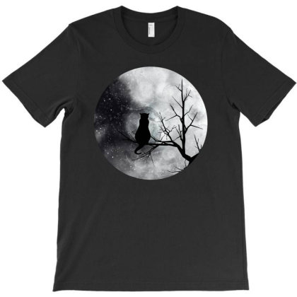 Moon Cat T-shirt Designed By Gurkan