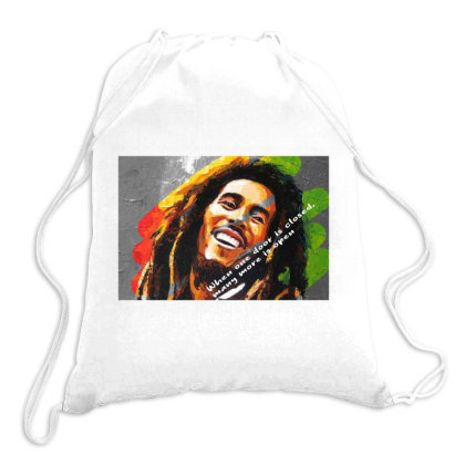 Bob Marley Drawstring Bags Designed By Uniquetouch