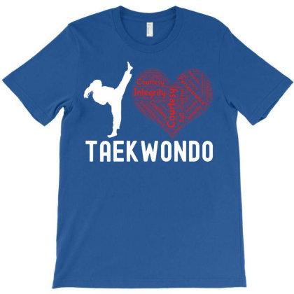 I Love Taekwondo 5 Rules Of Tae Kwon D0 T-shirt Designed By Cogentprint