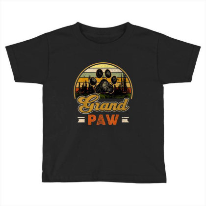 Grandpaw Retro Vintage Toddler T-shirt Designed By Mrt90