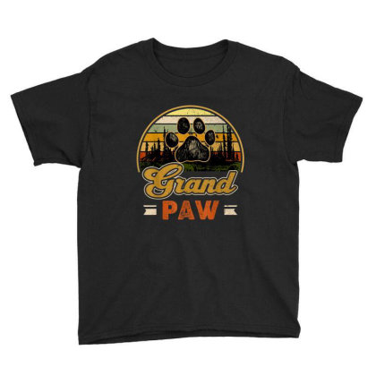 Grandpaw Retro Vintage Youth Tee Designed By Mrt90