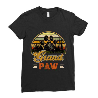 Grandpaw Retro Vintage Ladies Fitted T-shirt Designed By Mrt90