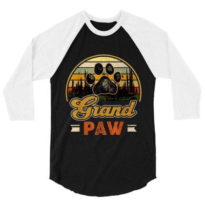 Grandpaw Retro Vintage 3/4 Sleeve Shirt Designed By Mrt90