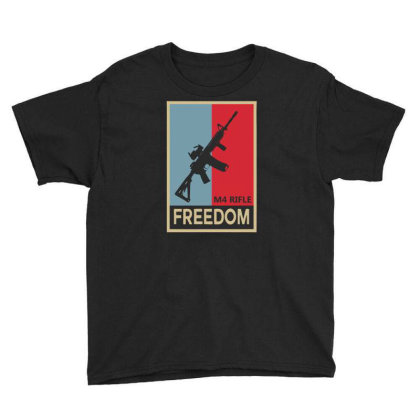 Infantry M4 Rifle Freedom Carbine Youth Tee Designed By Aheupote