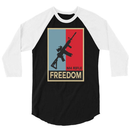 Infantry M4 Rifle Freedom Carbine 3/4 Sleeve Shirt Designed By Aheupote
