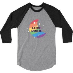 Love pride day 3/4 Sleeve Shirt   Artistshot
