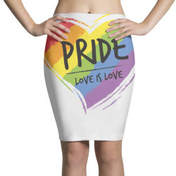 Love is love, pride day Pencil Skirts | Artistshot