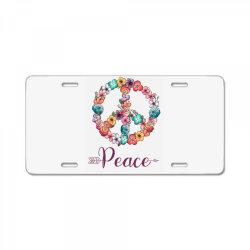 peace floral sing License Plate | Artistshot