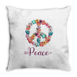 peace floral sing Throw Pillow | Artistshot