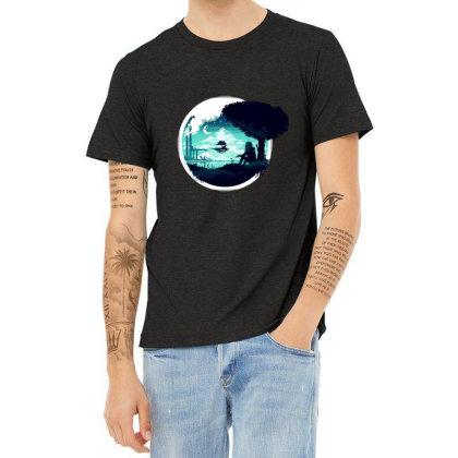 At Night Heather T-shirt Designed By Alda_gaby
