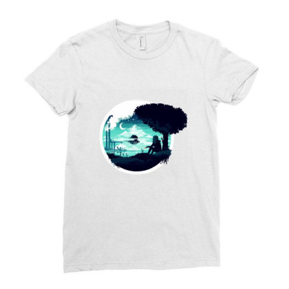At Night Ladies Fitted T-shirt Designed By Alda_gaby
