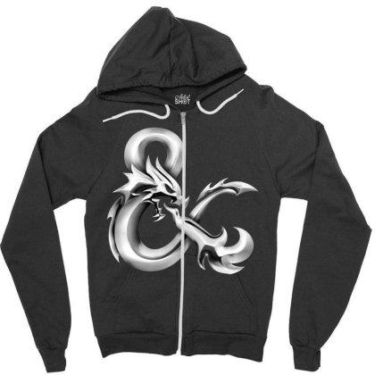 Dungeons & Dragons Metallic Zipper Hoodie Designed By Honeysuckle