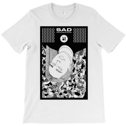 Sad Shirtprint T-shirt Designed By Blackstars