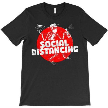 Social Distancing Dancing Skeleton Art T-shirt Designed By Blackstars