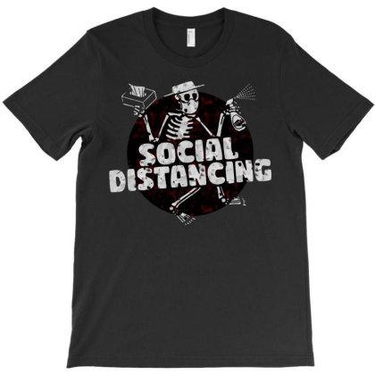 Social Distancing Dancing Skeleton T-shirt Designed By Blackstars