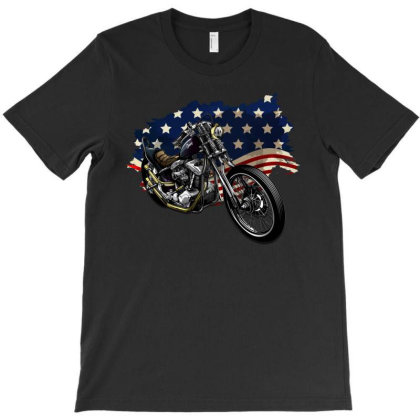 American Legend Motorbike T-shirt Designed By Gurkan