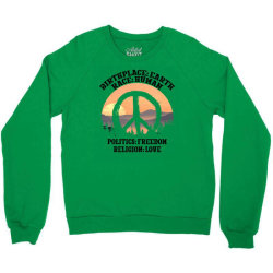 birthplace earth race human politics freedom religion love for light Crewneck Sweatshirt | Artistshot