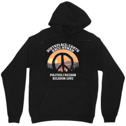 birthplace earth race human politics freedom religion love for dark Unisex Hoodie | Artistshot