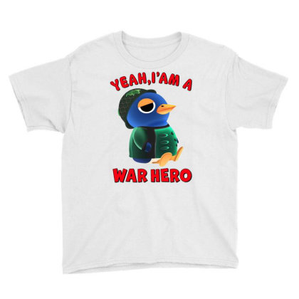 Yeah, I'm A War Hero Youth Tee Designed By Honeysuckle