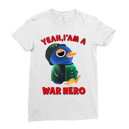 Yeah, I'm A War Hero Ladies Fitted T-shirt Designed By Honeysuckle
