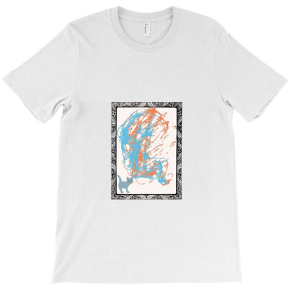 Cat In Painting T-shirt  Animal T-shirt T-shirt Designed By Uniquetouch