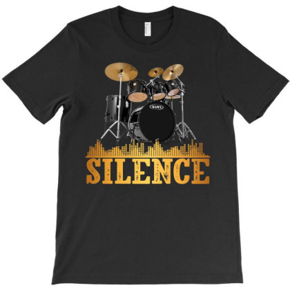 Retro Vintage Drumset T-shirt Designed By Gurkan