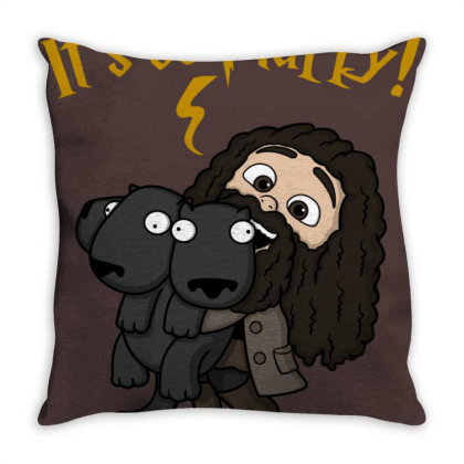 Its So Fluffy! Throw Pillow Designed By Raffiti