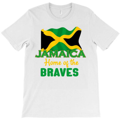 Jamaica Home Of The Brave Shirt Gift T-shirt Designed By Cogentprint