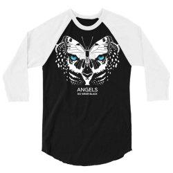 angels do wear black   jonny cota studio print 3/4 Sleeve Shirt   Artistshot
