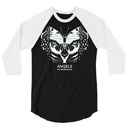 Angels Do Wear Black   Jonny Cota Studio Print 3/4 Sleeve Shirt Designed By Amber Petty