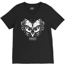 angels do wear black   jonny cota studio print V-Neck Tee   Artistshot