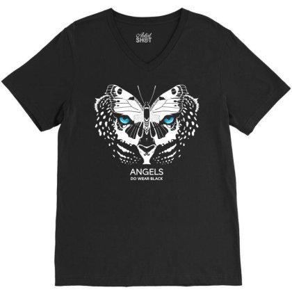 Angels Do Wear Black   Jonny Cota Studio Print V-neck Tee Designed By Amber Petty