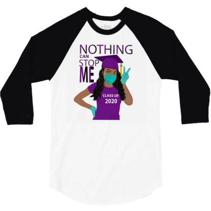 Nothing Can Stop Me 3/4 Sleeve Shirt Designed By Kakashop