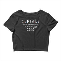 class of 2020 graduation senior funny quarantine Crop Top | Artistshot